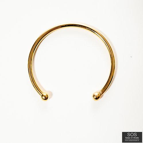 Gold Open Cuff Bangle