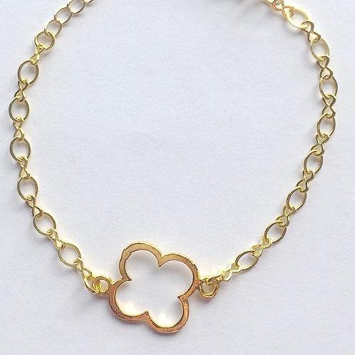 Gold Clover Infinity Bracelet