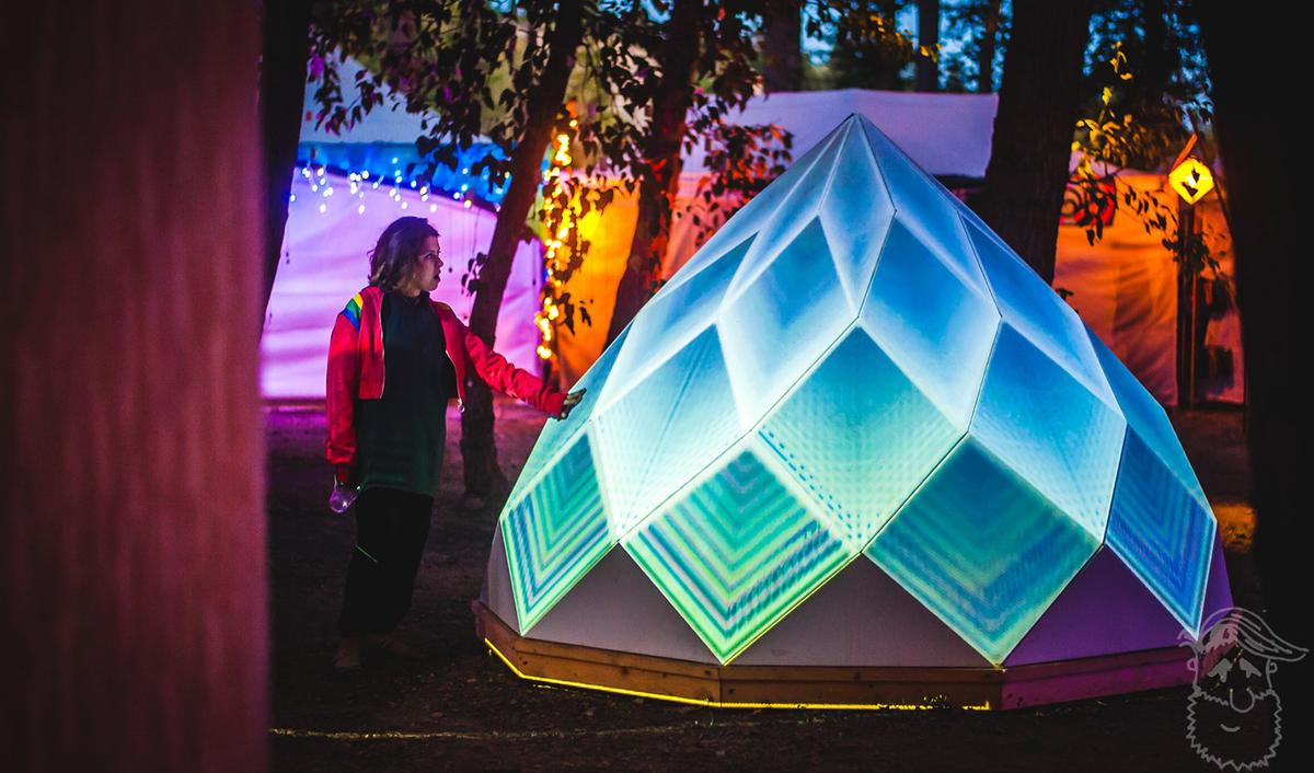 'Prizome' installation for Bass Coast Music Festival
