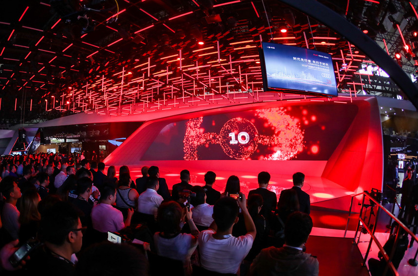 Kinetic Lighting Installation for Audi Guangzhou Exhibition