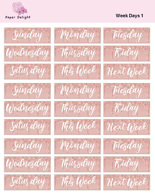 Week Days 1