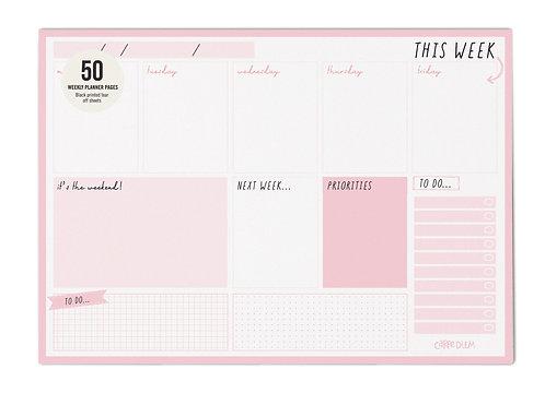 Ballerina Pink Weekly Planner Pad