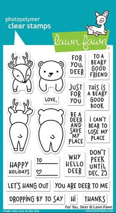 for you, deer, Lawn Fawn