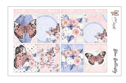 Pink Butterfly Planner Stickers