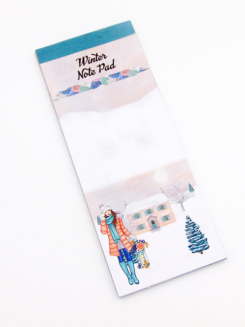 Winter Note Pad