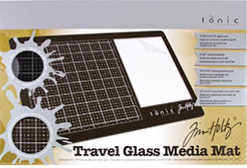 Tim Holtz Travel Glass Media Mat Mini