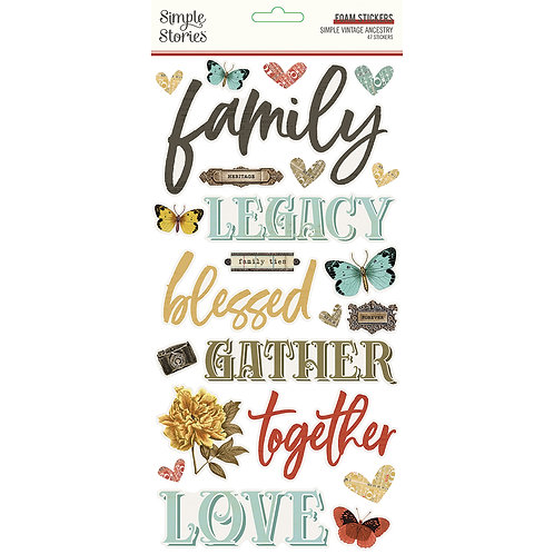 SIMPLE VINTAGE ANCESTRY - FOAM STICKERS