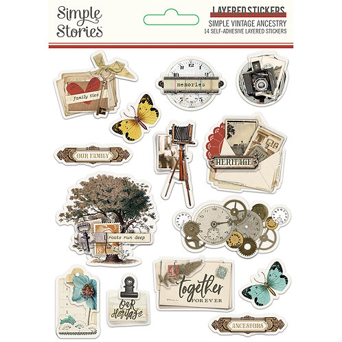 SIMPLE VINTAGE ANCESTRY - LAYERED STICKERS