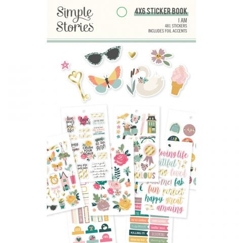 "I Am 2020 4"" x 6"" Sticker Book - Simple Stories"