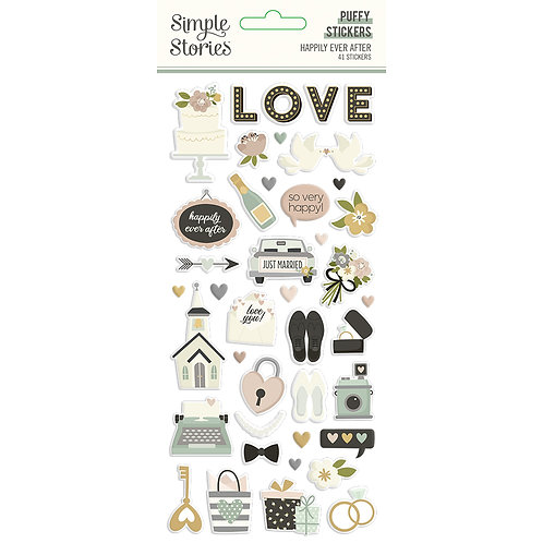 HAPPILY EVER AFTER - PUFFY STICKERS