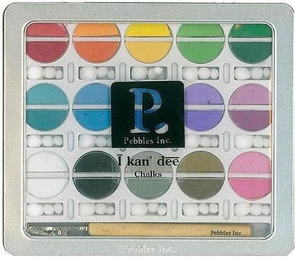 American Crafts I Kan'dee Chalk Set-Basic Brights Fabric