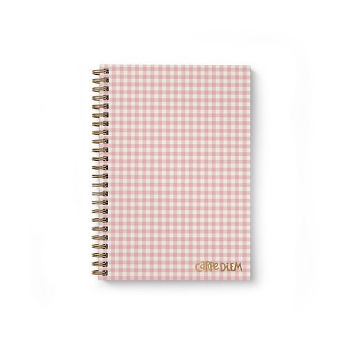 Ballerina Pink Check B5 Hardcover Note Book