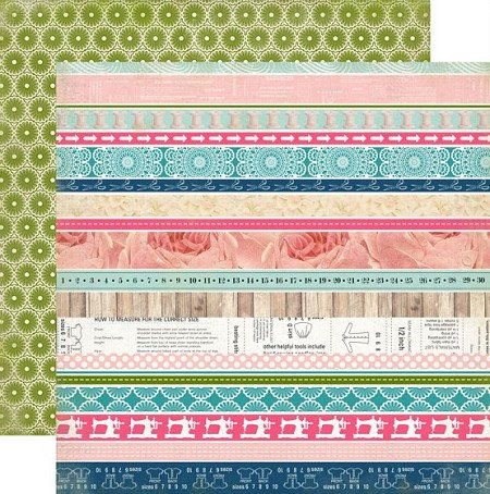 "Carta Bella - Sew Lovely  - 12""x12"" Double Sided single Paper Border Strips"
