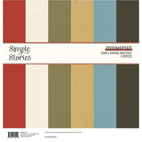 SIMPLE VINTAGE ANCESTRY - 12X12 BASICS KIT