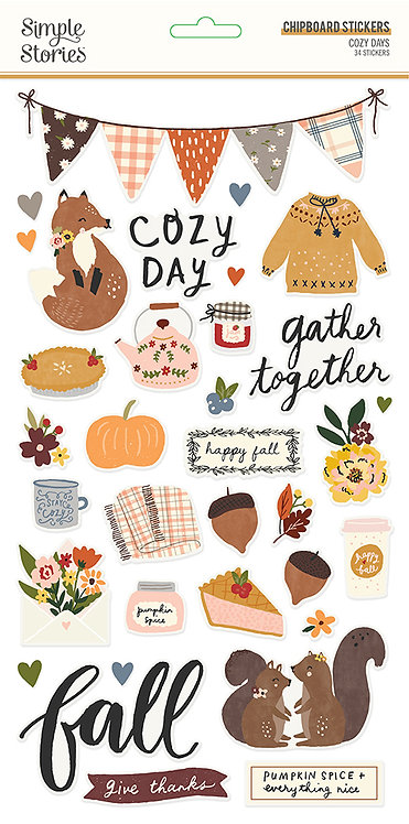 COZY DAYS -6X12 CHIPBOARD