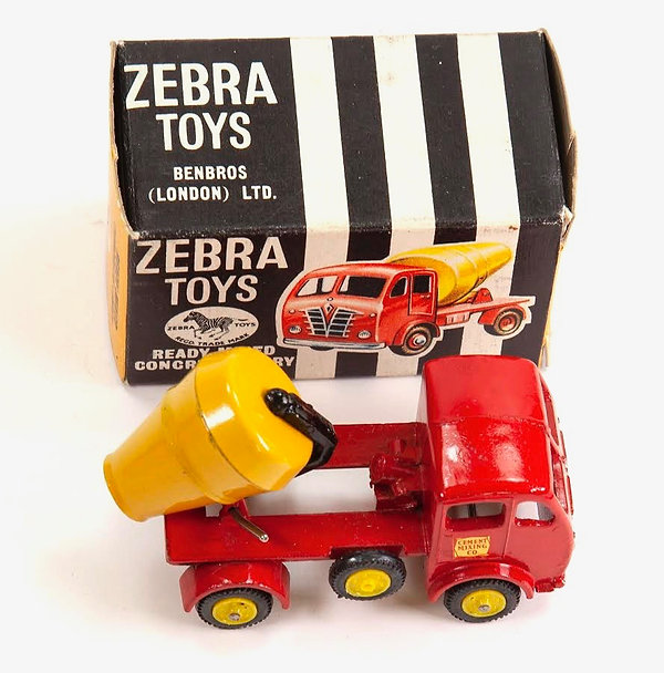 Benbos Zebra Toys Ready Mixed Concrete Lorry