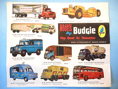 Budgie Models Leaflet 1963 - Second Issue