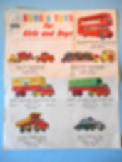 Budgie Toys Leaflet 1960 - Second Issue (reverse)