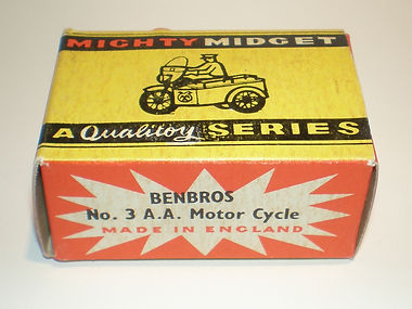 Benbros Mighty Midget No.3 AA Motorcycle box
