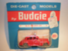 Budgie Miniatures No.27 Fire Chief Car - blue blister-pack