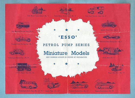 Morestone Esso Petrol Pump Series Catalogue
