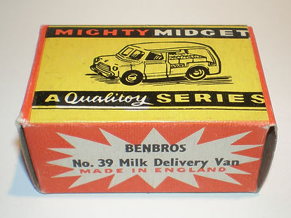 Benbros No.39 Milk Delivery Van Mighty Midget box