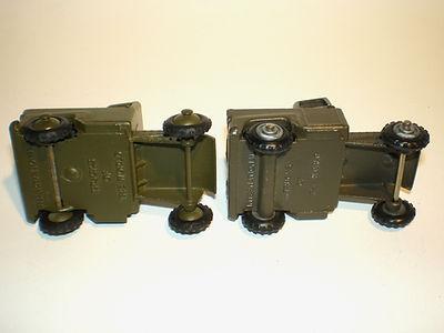 Budgie No.222 Tank Transporter cab variations