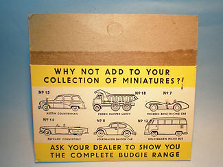 Budgie Miniatures No.5 Police Car - yellow blister-pack reverse