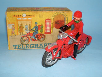Benbros Qualitoys Telegraph Boy Motorcycle