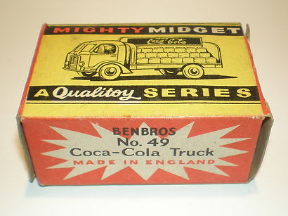 Benbros Mighty Midget No.49 Coca-Cola Truck box