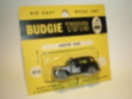 Budgie Miniatures No.13 Austin Taxi yellow blister-pack