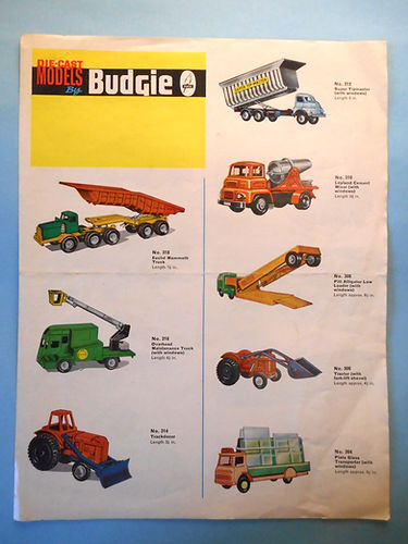 Budgie Models Catalogue 1964