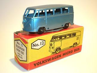 Budgie Miniatures No.12 VW Micro Bus - metallic blue, Modern (type 2) box