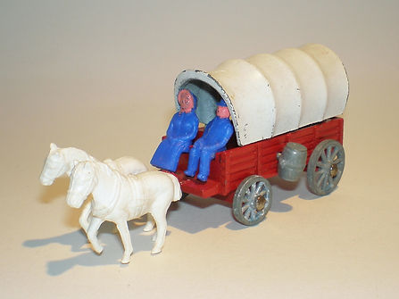 Budgie Miniatures Wagon Train Covered Wagon - white canopy