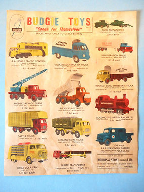 Budgie Toys Leaflet 1959 - Third Issue