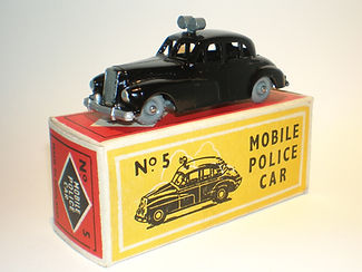 Budgie Miniatures No.5 Police Car - gpw, Modern type 1 box