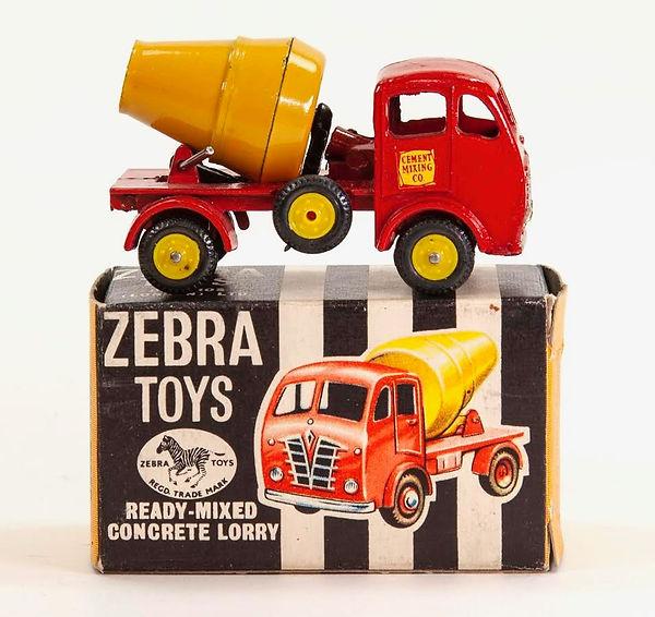 Benbros Zebra Toys Concrete Lorry