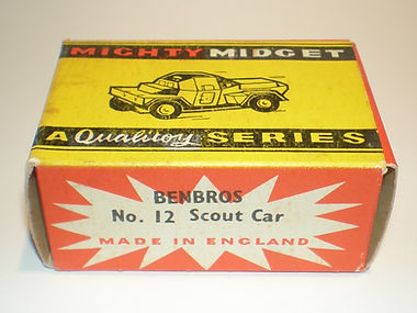 Benbros No.12 Scout Car Mighty Midget box