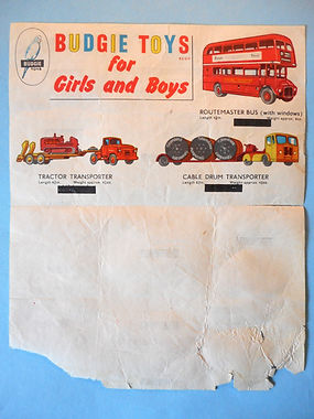 Budgie Toys Leaflet 1959 - Third Issue variation (reverse)
