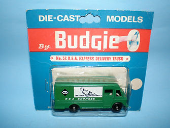 Budgie Miniatures No.57 REA Express Delivery Truck - blue blister-pack