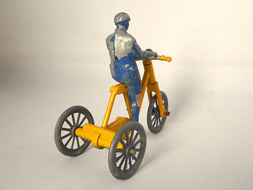 Morestone Boy on Tricycle - yellow