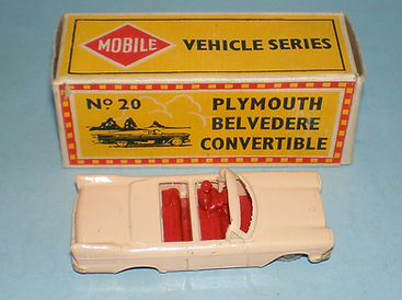 Budgie Miniatures No.20a Plymouth Belvedere, Mobile box