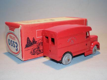 Morestone Esso Petrol Pump Series No.11 Royal Mail Van - rear windows