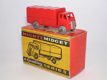 Benbros Mighty Midget No.31 AEC Covered Truck - red variation