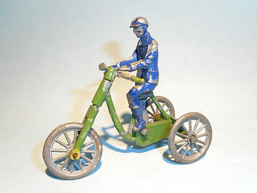 Morestone Boy on Tricycle - green
