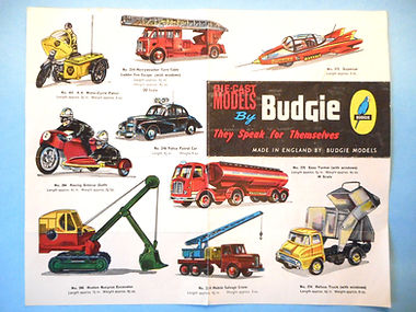 Budgie Models Leaflet 1962 - Second Issue