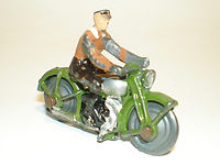 Britains Lilliput World Vehicle Series LB/536 Civilian Motorcycle