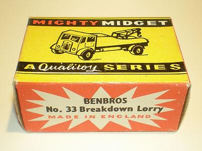 Benbros No.33 Breakdown Lorry - Mighty Midget box
