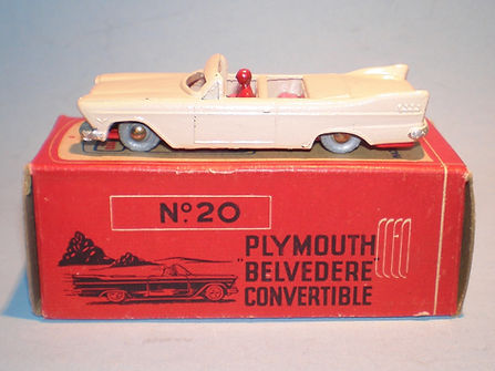 Morestone Esso Petrol Pump Series No.20 Plymouth Belvedere Convertible