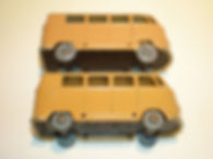 Budgie Miniatures No.12 VW Micro Bus - tan, wheel variations